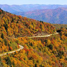 Blue ridge and smoky mountains meet in north carolina - Google Search