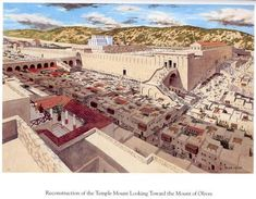 I was glad when they said to me, let's go up to the House of the Lord. Jewish people came to the temple in Jerusalem a year from all over Israel for Passover, Shavuot and Sukkot (Unleavened bread, Weeks and Tabernacles) as God commanded Ancient Rome, Ancient Greece, Ancient History, Turm Von Babylon, Bethlehem City, Temple In Jerusalem, Jerusalem Israel, Solomons Temple, Arte Judaica