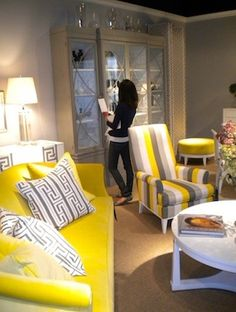 grey and yellow interior design I AM IN LOVE