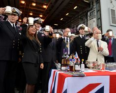 HMS Diamond was led into the harbour by two Royal Navy patrol vessels – HMS Raider and HMS Blazer  The event included the launch of a cocktail created for the Navy by the celebrated Dukes Hotel in London's Mayfair, called Dukes Royal Navy Jubilee.  Dukes Royal Navy Jubilee cocktails are raised in a toast to Her Majesty The Queen. CROWN COPYRIGHT