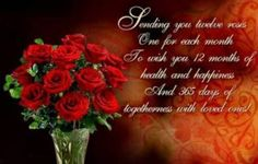 sending you twelve roses one for each monthhappy new year roses months friend happy new year happy new year quote happy new year greeting