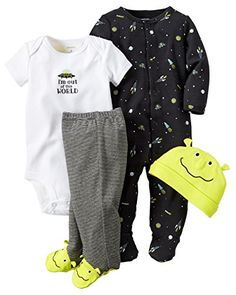Carters Baby Boys 4 Piece Layette Set Baby  Out of this World9M ** Want additional info? Click on the image. (This is an affiliate link)