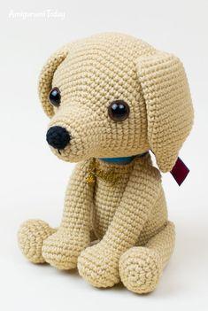This cute lucky puppy amigurumi is just 15 cm tall. The difficulty range of the Lucky Puppy Amigurumi Pattern is medium. Amigurumi Animals, Yarn Animals, Amigurumi Doll, Crochet Animals, Crochet Dog Patterns, Amigurumi Patterns, Cute Crochet, Crochet Dolls, Lucky Puppy