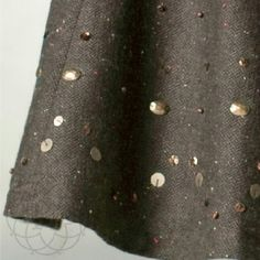 """✨LOWEST PRICE✨ Coldwater Creek Studded Twill Skirt HP Darling Brown Tweed Twill Skirt with studs and sequin. A truly beautiful & unique skirt! ▪ Fitted waist front, elastic band back with zipper closure  ▪ Fully lined  ▪ Fabric: 74% Polyester, 20% Wool, 6% Other Fibers, Lining 100% Polyester  ▪ Care: Dry Clean Only  ▪ Natural Waist: 29""""-32"""" inches, Hips: tappered 36""""-40"""" inches, Length: 27"""" inches   All measurements are approximate   Brand New with Tag & never worn    All Sales Final…"""