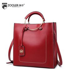 280db5cc80 ZOOLER 2017 New Superior cowhide Genuine Leather fashion luxury handbags  women bags designer Tote women handbags