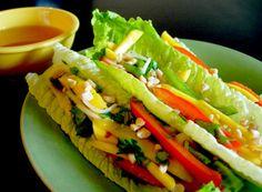 Mango Lettuce Wraps