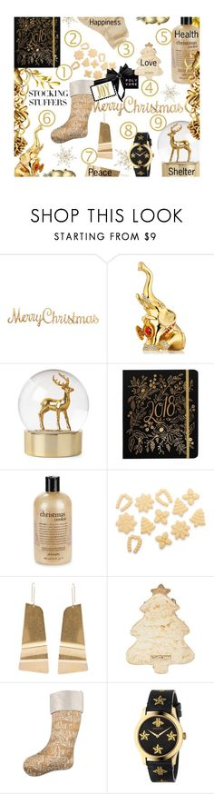 """""""#PolyPresents: Stocking Stuffers. Thank You PV Friends For A Year Of Kindness.  May Your Stockings Be Filled With Happiness, Good Health, Love, Peace & Warm Shelter"""" by sharee64 ❤ liked on Polyvore featuring interior, interiors, interior design, home, home decor, interior decorating, Estée Lauder, Berylune, philosophy and Sur La Table"""