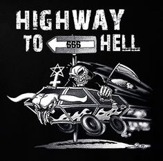 Rock Style Highway To Hell T-shirt S Gothic Death Metal Rock N Roll | eBay