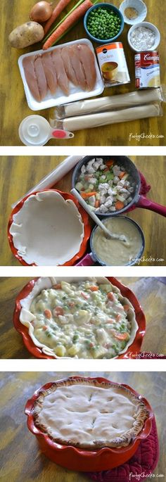 Semi homemade chicken pot pie - SO good!!