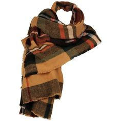 Women's Wilsons Leather Square MultiColor Plaid Scarf (€32) ❤ liked on Polyvore featuring accessories, scarves, tartan scarves, plaid shawl, tartan plaid scarves, square scarves and tartan shawl