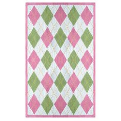Haywood Rug Pink & Green from the Preppy & Plush event at Joss and Main!
