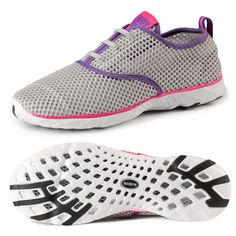 Women s Athletic Sport Lightweight Mesh Slip-On Quick Drying Aqua Water  Shoes - Grey - C1185GZ2X5Q 18d6ca25e862