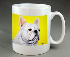 French Bulldog Mug Dog Coffee Tea Cocoa Ceramic by RMBArtStudio
