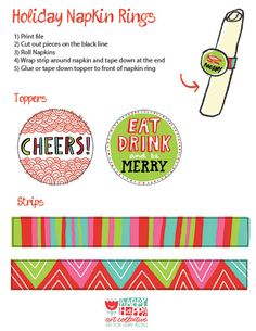 24 Days OF FREEBIES:: Day 19 :: HOLIDAY NAPKIN RINGS — happy happy art collective