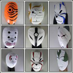ANBU squad - some anime team Anbu Mask, Helmet Armor, Japanese Mask, Hakuna Matata, Black Ops, Armors, Best Cosplay, Cosplay Ideas, Mask Design