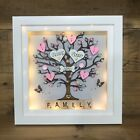 Family tree Box Frame Scrabble Gift. Birthday Gift For Family Grandparents | eBay Scrabble Frame, Scrabble Art, Personalised Family Tree, Personalised Box, Family Tree Frame, Christmas Buttons, Tree Box, Button Crafts, Box Frames