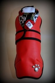 Sale Items - Size 1 - Red Vinyl Rose and Skull Coat