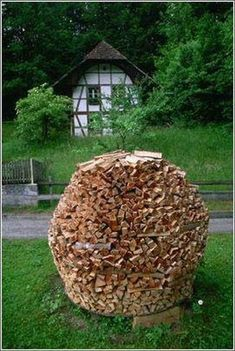 Creative firewood storage ideas turning wood into beautiful yard - Firewood Firewood Rack And Concrete Blocks On Pinterest
