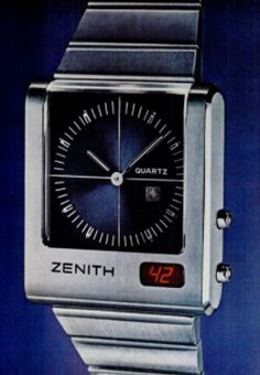 https://flic.kr/p/215Df9o | The Zenith TimeCommand Digital Quartz Watch With LED Display Window, Circa 1977