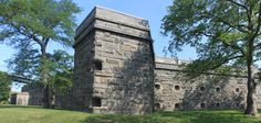 Fort Schuyler was built in the 1830s in Throgs Neck to protect New York City from attacks by sea in the Long Island Sound. Today it houses a Maritime Industry Museum and SUNY Maritime College offices.