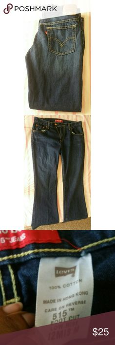 """Levi's Boot Cut Low Rise 515 Jeans Condition: Great. / Sizing says """"12Mis M"""" , so I'm  assuming that these jeans are a size 12. / Feel free to make an offer. / No trades.  / Please don't advertise your closet. Levi's Jeans"""