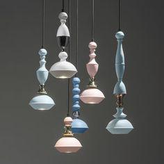 lampe suspension / contemporaine / en cuivre / en chrome