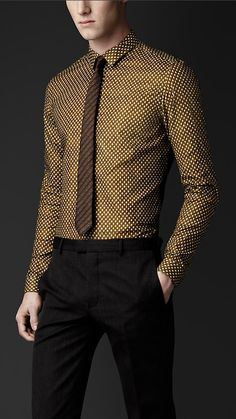 Skinny Fit Acorn Print Shirt | Burberry Prorsum S/S 2013