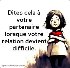 relation devient difficile - Lo Que Necesita Saber Sobre La Salud Love One Another Quotes, Feeling Insecure, Positive Attitude, Adolescence, Told You So, Inspirational Quotes, Messages, Motivation, Abandon