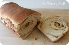 Cinnamon Swirl Bread.  Tastes just like Great Harvest from Sixsistersstuff.com #bread #recipe Bread Mixer, Harvest Bread, Cinnamon Swirl Bread, Cinnamon Bread Recipe Yeast, Cinnamon Rolls, Dessert Bread, Dessert Recipes, Bread Baking, No Yeast Bread