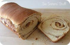 Cinnamon Swirl Bread.  Tastes just like Great Harvest from Sixsistersstuff.com #bread #recipe