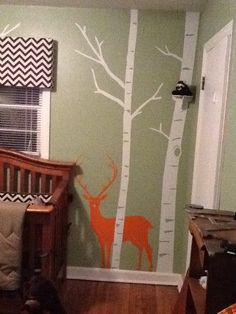 I want one !!! Thanks a lot Dawn!  Baby boy nursery with Deer theme