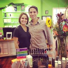 Pia Trujillo and Andres Hernandez owners of Pia Day Spa, at the westchase location at the 2013 Yelp party