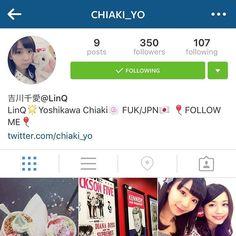 LinQの吉川千愛ちゃんがインスタ始めたよー去年お会いしてからずっとこっそり応援してますフォローしてねそしてお誕生日おめでとう @chiaki_yo  Chiaki Yoshikawa has an insta account now so go follow her!! Ever since I met her last year I've been secretly cheering for her :3 Also Happy Birthday Chiaki! @chiaki_yo  #linq #yoshikawachiaki #吉川千愛