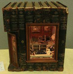 A curious shop built inside volumes of antique books