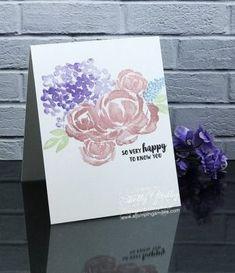 Stampin' Up! Beautiful Friendship One Layer Card Handmade Greetings, Greeting Cards Handmade, Free Cards, Hand Stamped Cards, Stampin Up Catalog, Friendship Cards, Stamping Up Cards, Happy Birthday Cards, Flower Cards
