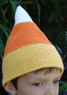 Kids candy corn crochet hat; adults too!