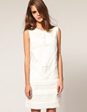 ASOS Shift Dress with Pleat Detail