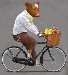 Cow Pattern, Funny Art, Unique Art, Cheese Bar, Funny Pictures, Bicycle, Sketches, Doormats, Art Paintings