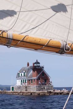 Rockland Breakwater Lighthouse from the Mary Day, Camden, Maine on Memorial Day - 2012.