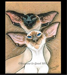 SIAMESE CAT Limited Edition print  by Suzanne by SuzannesGallery, £9.50