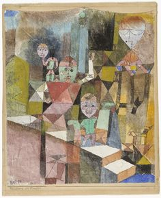 Introducing the Miracle, (1916) | Paul Klee (German, born Switzerland. 1879–1940) | Gouache, pen, and ink on plastered fabric, mounted on board, 11 1/2 x 9 3/8""