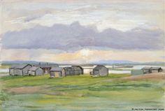 Rakennuksia rannalla (Muonio) Eero Järnefelt ,1929