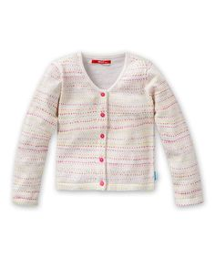 This Oilily Pink & Cream Polka Dot Stripe Cardigan - Toddler & Girls by Oilily is perfect! #zulilyfinds