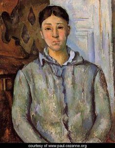 Madame Cezanne In Blue Aka Sant Van Victoria - Paul Cezanne - www.paul-cezanne.org
