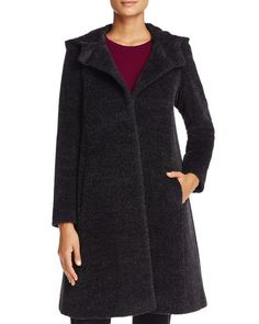 Cinzia Rocca Icons Hooded Wool & Alpaca Swing Coat