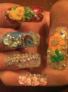 SINALOA STYLE <3 by ZULAYSNAILS - Nail Art Gallery nailartgallery.nailsmag.com by Nails Magazine www.nailsmag.com #nailart