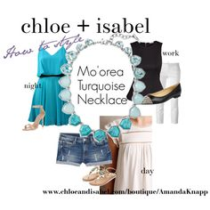 chloe + isabel Mo'orea Turquoise Necklace by amanda-knapp on Polyvore featuring polyvore fashion style Lavender Brown Meadow Rue H&M MANGO Dsquared2 Monsoon Manolo Blahnik  https://www.chloeandisabel.com/boutique/krwg