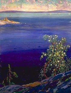 Georgian Bay, Spring - Arthur Lismer - www.group-of-seven КАНАДА Group Of Seven Artists, Group Of Seven Paintings, Most Famous Paintings, Small Paintings, Tom Thomson, Emily Carr, Canadian Painters, Canadian Artists, Spring Painting