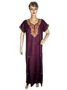 Womens Caftan Dress Purple Floral Embroidered Soft Cotton Resort Wear Kaftan Evening Gown Mogulinterior, http://www.amazon.com/dp/B009F64SB2/ref=cm_sw_r_pi_dp_Bszxqb1J7T24P$49.99
