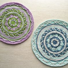 Color reboot. I'll finish the lavender and green one eventually but my color sense is twitching much less with my tried and true shades of blue.  Shelley @spincushions you feel me yes?  Pattern: Joana Mandala by @lillabjorncrochet by mobiusgirl